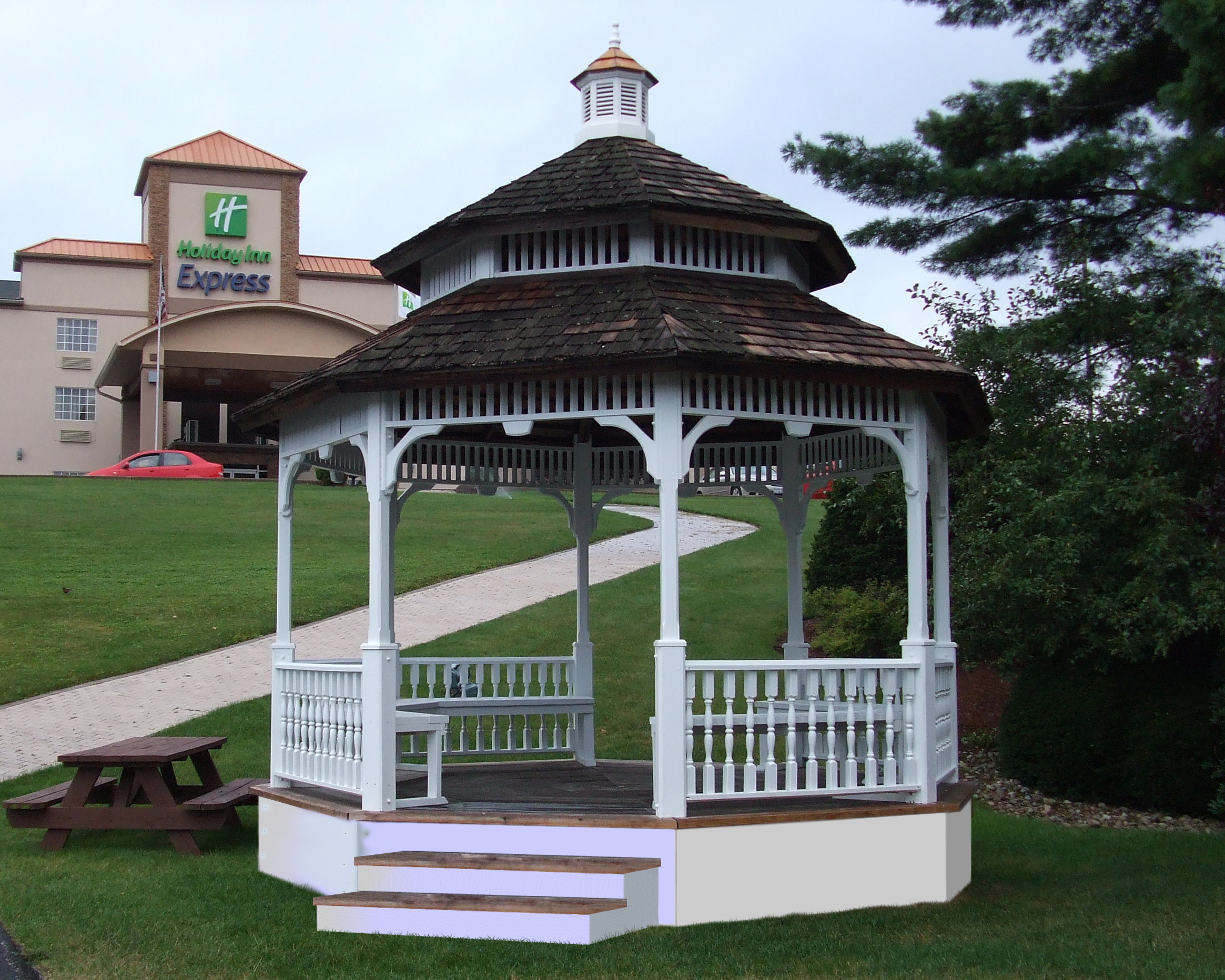 gazebo/holiday inn
